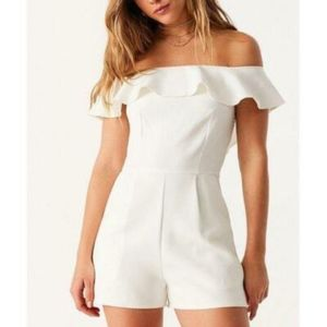 NWT OML Urban Outfitters Wine Off Shoulder Romper